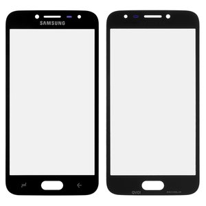 Housing Glass compatible with Samsung J250F Galaxy J2 (2018), (black)