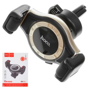 Car Holder Hoco S1 Lite, (golden, black, for deflector)