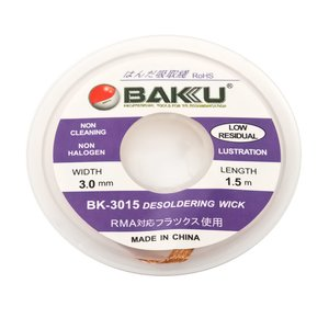 Cinta desoldadoras BAKU BK 3015    , (Ancho) 3.0 mm, (L) 1.5 m