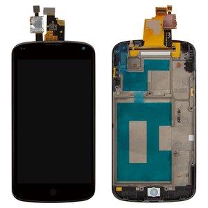 Pantalla LCD puede usarse con LG E960 Nexus 4, negro, con panel delantero, con cristal táctil