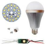 Juego de piezas para armar lámpara LED regulable SQ-Q24 5730 9 W (luz blanca fría, E27)