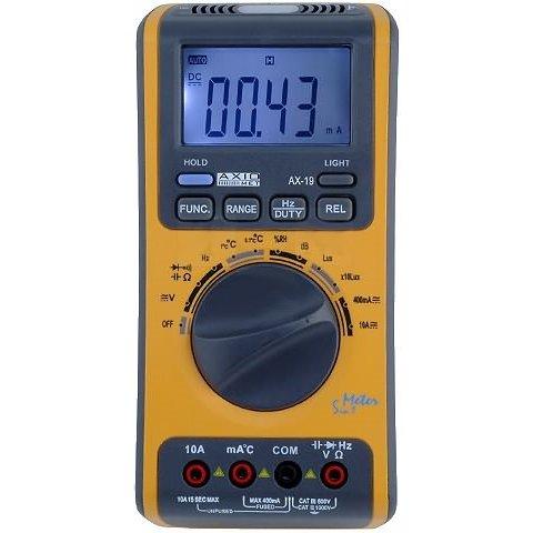 Мультиметр с измерением влажности, уровня звука и освещения AXIOMET AX 19