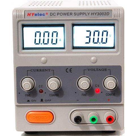Регульований блок живлення HYelec HY3002D