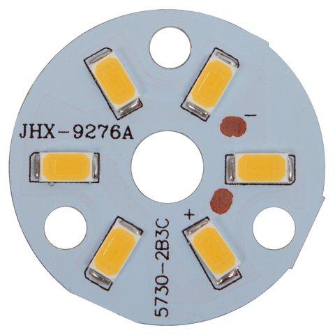 Плата зі світлодіодами 3 Вт теплий білий, 350 лм, 32 мм