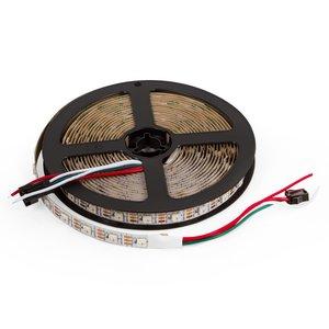 Світлодіодна стрічка SMD5050, WS2812B (біла, з управлінням, IP20, 5 В, 60 діодів/м, 5 м)