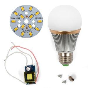 Комплект для збирання світлодіодної лампи SQ-Q22 7 Вт (теплий білий, E27)