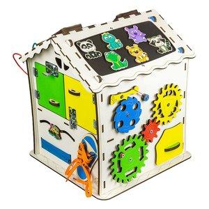 Бізіборд GoodPlay Будиночок для розвитку (30×30×40)
