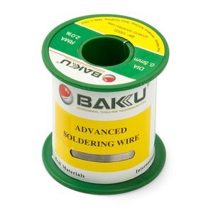 Solder Wire Baku BK-10005, Sn 97%, Ag 0.3%, Cu 0.7%, Flux 2% 0.5 mm, 100 g