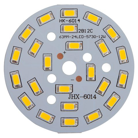 PCB with LEDs 12 W cold white, 1440 lm, 63 mm